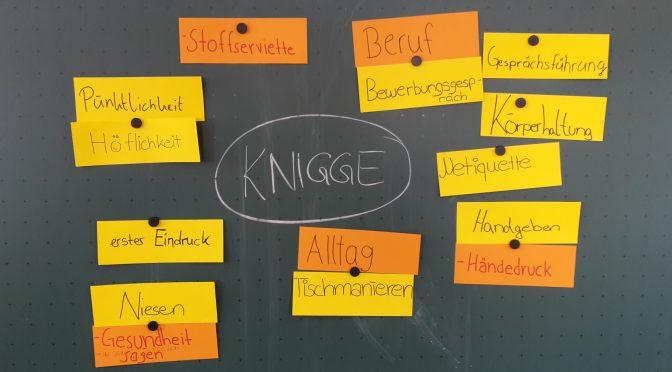 Knigge-Vortrag für BF10. Klassen