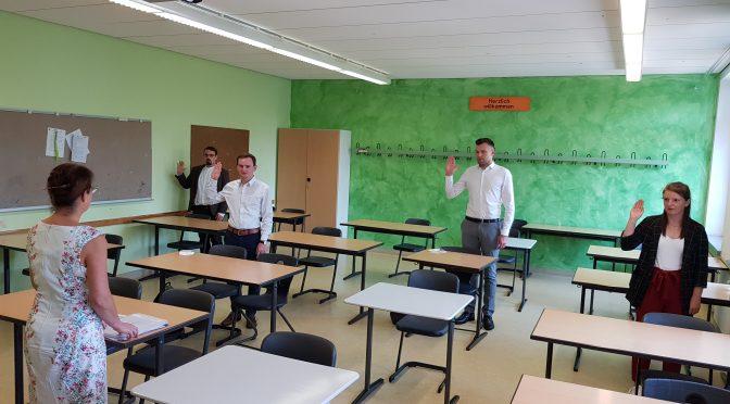 Erster Schultag am BSZ Weiden II – auch für vier Lehramtsanwärter